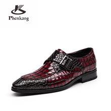 Мужские официальные туфли из натуральной кожи; Оксфорды для мужчин; Черные, красные модельные туфли; Свадебные туфли; Кожаные броги на шнурк...(Китай)