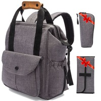 Diaper Bag Backpack w/ Stroller Straps Multi-Function Waterproof Maternity Nappy Travel Bags for baby - Large Capacity