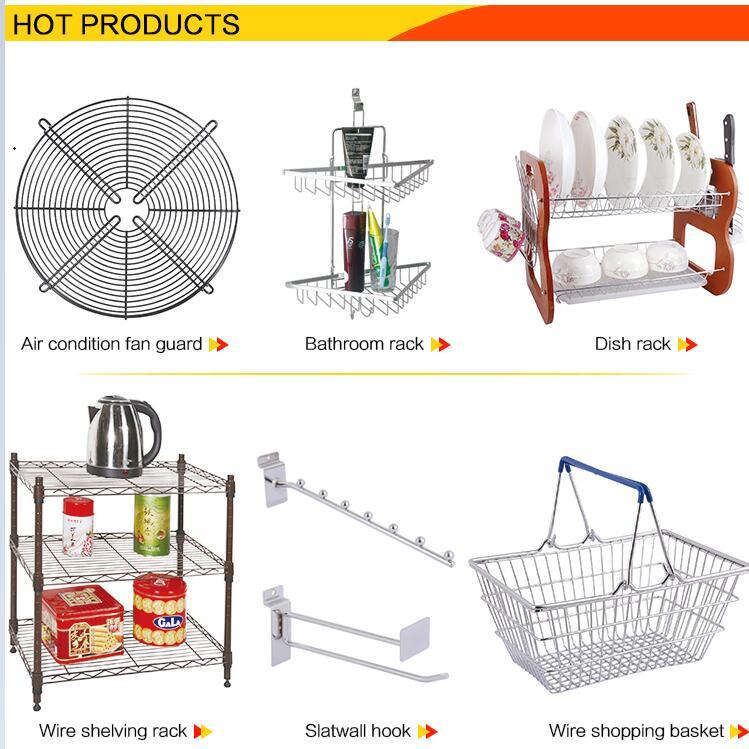 Nouveau Design De Haute Qualité Chromé supermarché panier à provisions en métal