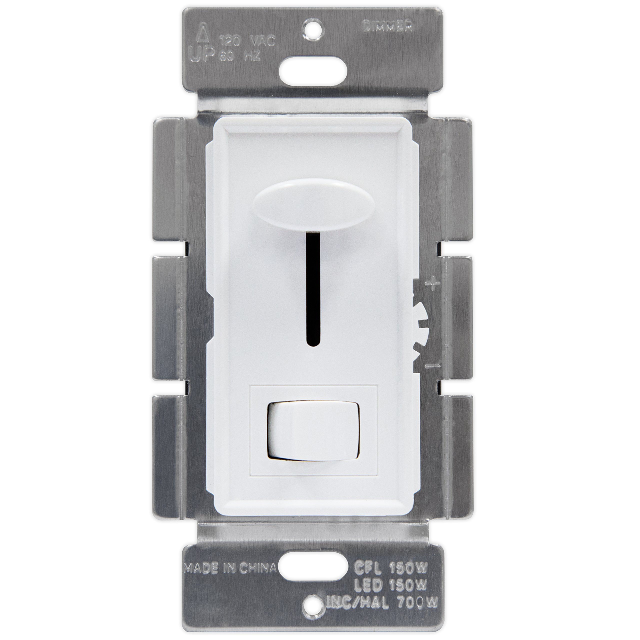 Enerlites 59302 LED Dimmer Switch 3-Way for Dimmable LED/CFL/Incandescent/Halogen, Single Pole - White