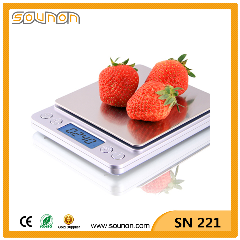Big LCD Backlight Display Large Stainless Steel Weighing Platform Digital Pocket Mini Scale 0.01