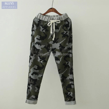 paintball pants Women Fashion ladies trouser cutting Camouflage Drawstring elastic waist Pocket Casual hip hop commando trousers