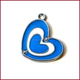 Blue & White Heart Pendant charms for mobile jewelry, key rings, bracelets, necklaces and dog collar