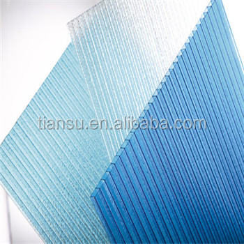 Tiansu Agricultural Technology Polycarbonate hollow sheet with low price, China corrugated plastic roofing sheets for greenhouse