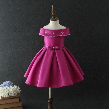 0e372653b Hot selling Indian and Pakistan purple satin baby girls birthday party wear  dresses net frock designs