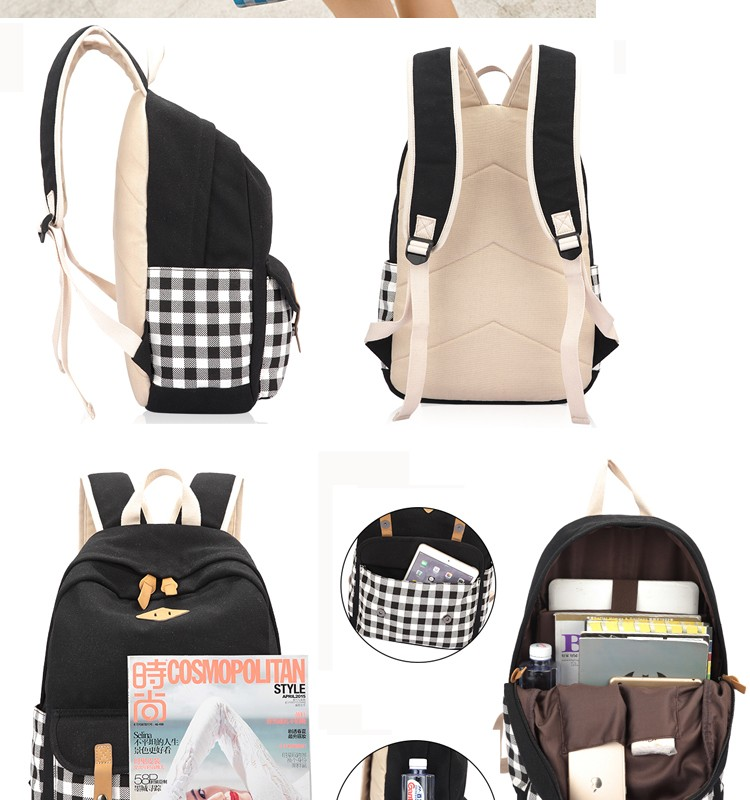 Big Price Drop Recycled Canvas Material School Bags Teens ...