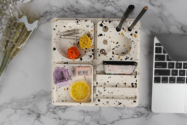 High Quality Unique Office Stationery Terrazzo Storage Box Gift Set