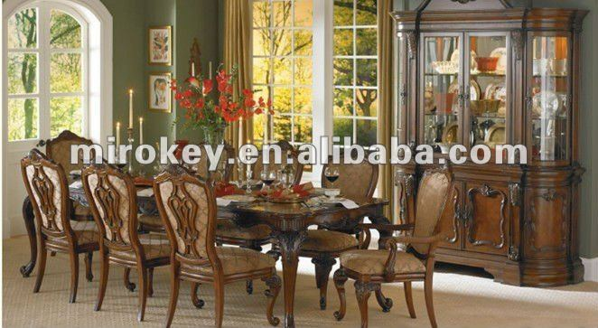 traditionellen esszimmermöbel, 8 sitzer antiken hölzernen, Esstisch ideennn