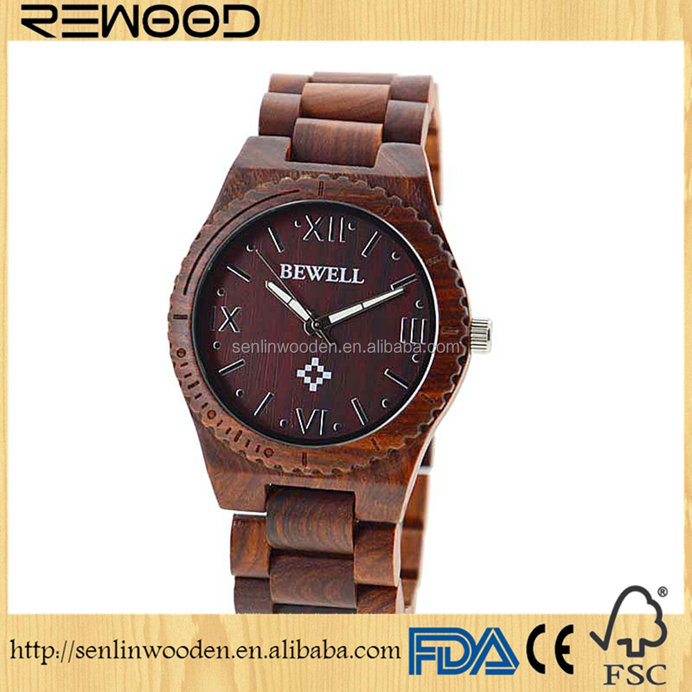 2017 new luxury arrival fashion man wrist watch cheap automatic wooden watches