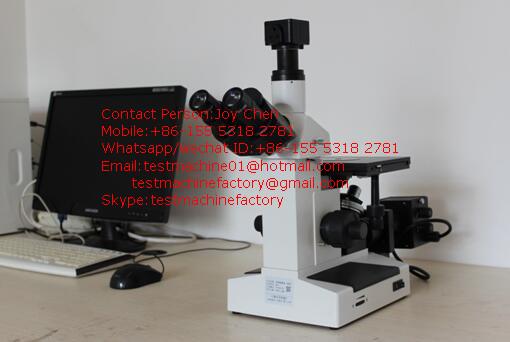 Trinoküler metalografik optik mikroskop dijital kamera ve yazılım