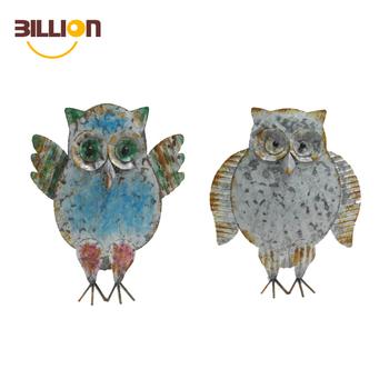 Yard Metal Animal Craft Garden Owl Sculpture Ornament