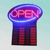 CE and RoHS acrylic 52X60cm high bright indoor business hour flashing electronic led open sign
