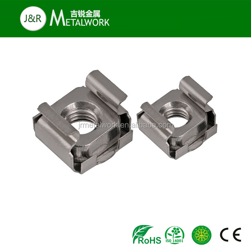 M2.5 M3 M4 M5 M6 A2 A2-70 A2-80 A4 A4-70 A4-80 SS304 SS316 Stainless Steel Spring Steel Cage Square Lock Nut Clip Nut