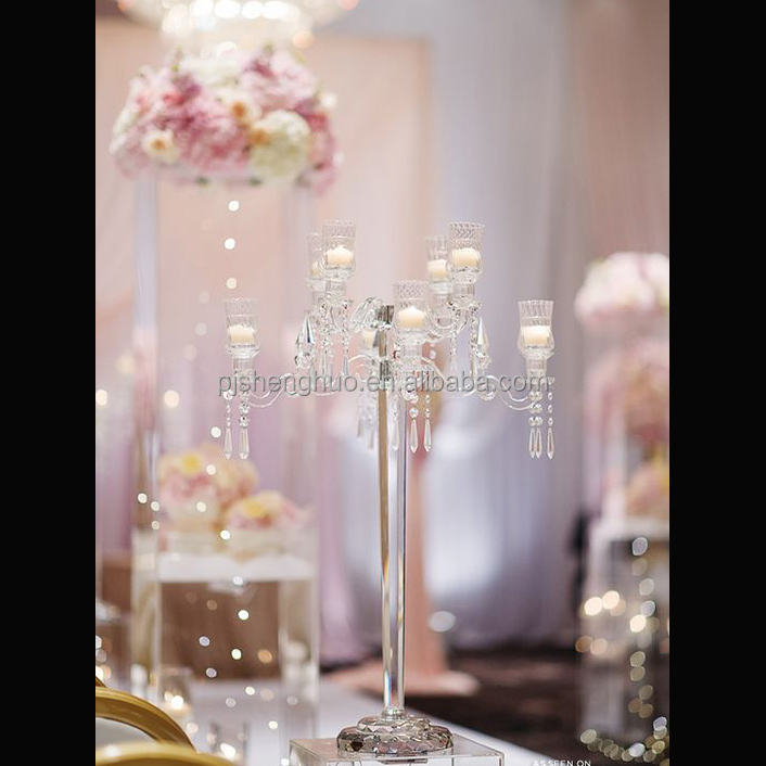tall crystal chandlier candelabras wedding center piece decor