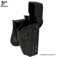 Glock 17 Police Low Ride Level III Retention Polymer Duty Holster with Safariland/Blackhawk Quality