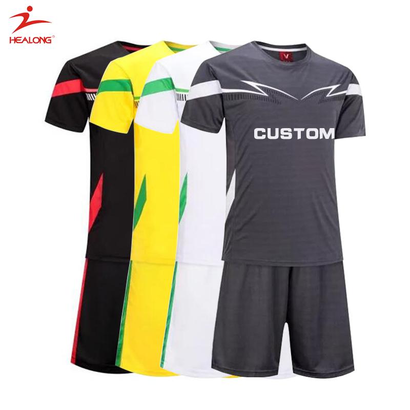 Proveedor de China 100% poliéster barato de uniformes de fútbol para los  equipos 99034684ed6ac
