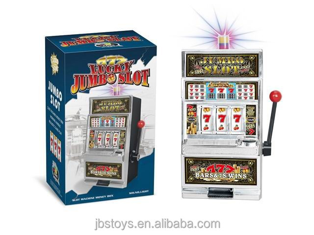 MINI SLOT MACHINE , JACKPOT MACHINE WITH LIGHT AND MUSIC , SAVING MONEY BOX