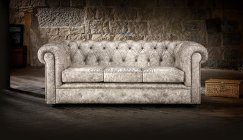 English Standard Winchester Chesterfield Leather Sofa Set 1+2+3 Or 1+1