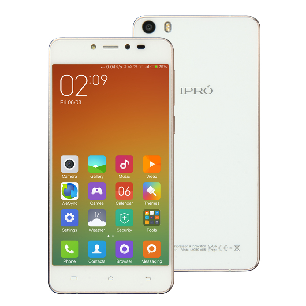 IPRO A58 original 4g lte quad core HD AMOLED full metal mobile phone dual slim gsm and wcdma phone with CE certificate
