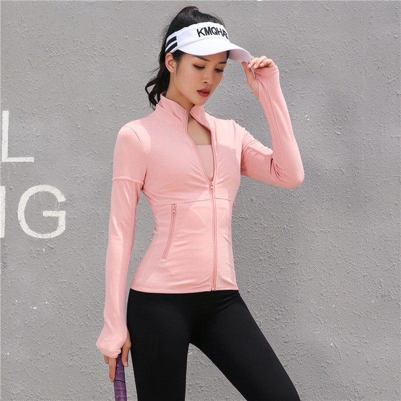 New Stitching Style Slim Autumn and Winter Yoga Clothes,Quick Drying Fitness Long Sleeve Running Women Sport Jacket 7