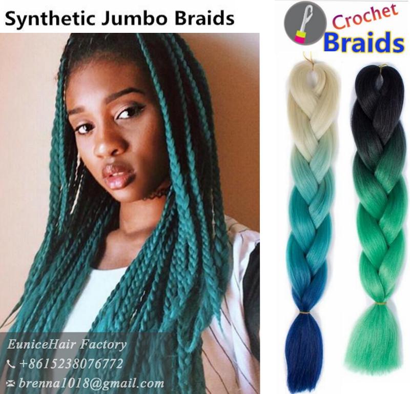 Jumbo Braids Easy Install Crochet Hair Extension Synthetic Braids