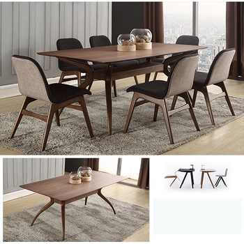 European Modern Style Design Rosewood Dining Table High End Room Furniture Tables