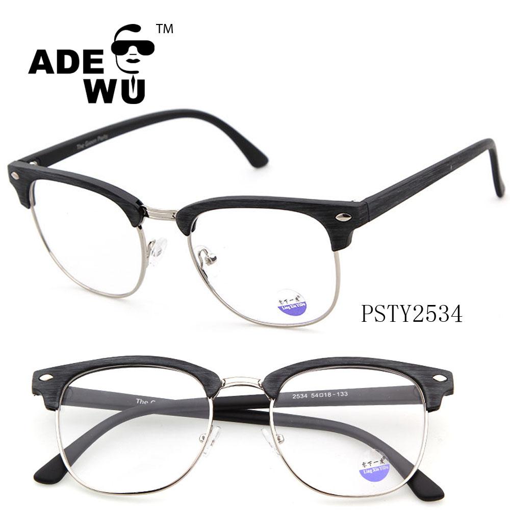 Ade Wu últimas 2016 Nuevo estilo gafas marco para los hombres, semi ...