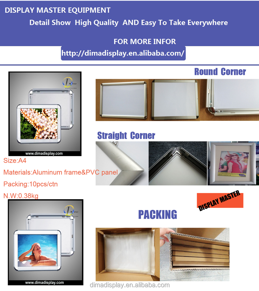 Dm Sgs Aluminium A4 Zertifikat Rahmen,Wand Plakatrahmen,Aushang ...