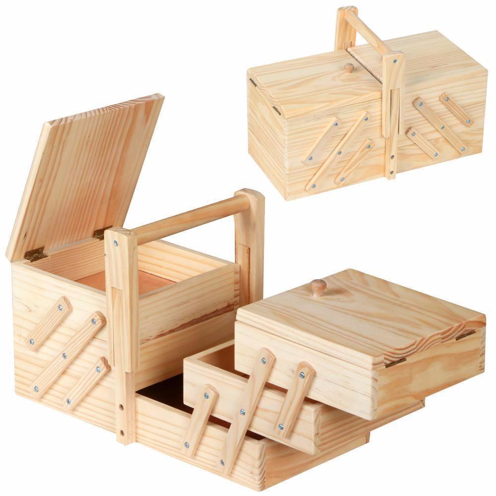 Holz Fabrik Unvollendet Kiefer Holz Klapp Nähen Box In Verpackung ...