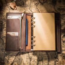 Кожаный Блокнот IPBEN, дорожный дневник для путешествий a5 Note Book 2019, дневник ручной работы, календарь, Подарочные наклейки на открытку(Китай)