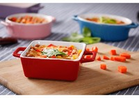 New! Square microwave safe ceramic bakeware/ oven safe heat resistant ceramic baking dish /porcelain baking tray
