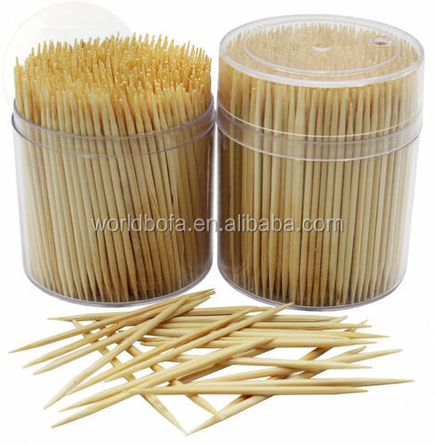 Luxury Eco friendly Natural Bamboo Wooden Cocktail Toothpicks