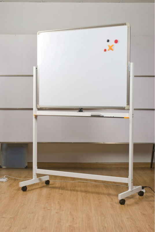 Double Sides Magnetic Mobile White Board With Wheels
