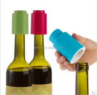 Reusable Press Lever Pump Freshen Sealed Saver Novelty Plastic Vacuum Wine Bottle Stopper