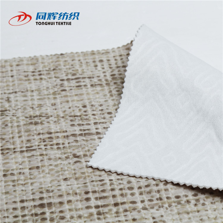 2019 New product High quality 100%polyester Fashionable new brushed single jersey knitting jacquard embossed fabric