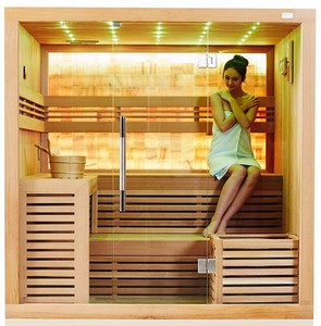 2-4 Person Wooden Mini Home Sauna And Dry Steam Sauna Room