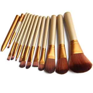 Hot Sale 12 pcs Private Label Makeup Brushes Cosmetic Foundation for Face Eyes