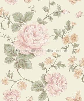 Desain Bunga Cantik Wallpaper Merah Mawar Wallpaper Dinding Buy