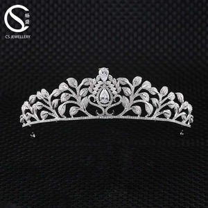2017 New Bridal Jewelry Beauty Crystal Zirconia Queen Crown For Wedding