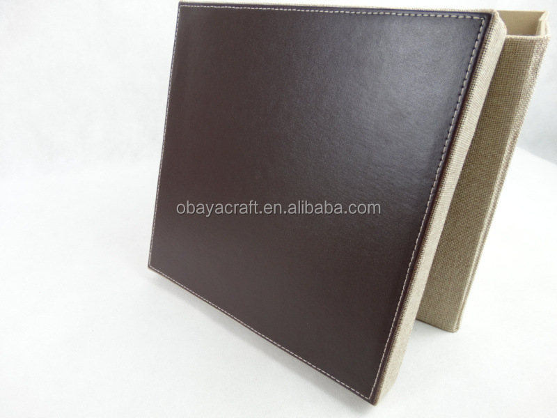 Wonderful Foldable Square PU Leather Edge, Linen Storage Box For Home Or Hotel  Supplies