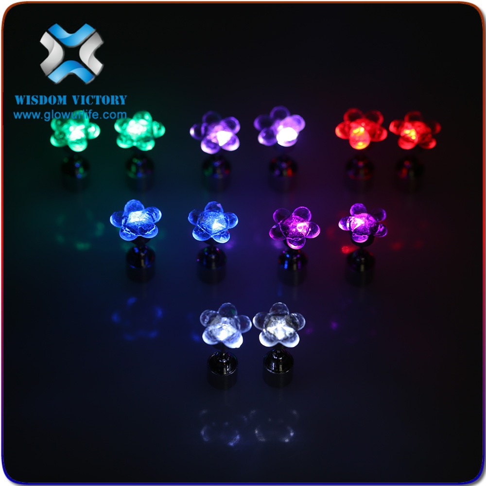 new product Fashion Popular flashing led earring man, led light earrings party wedding decoration
