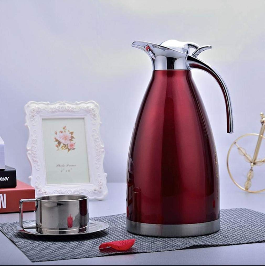W&P Home insulation pot kettle stainless steel thermos vacuum thermos pot warm kettle , 1.5l (wine red)