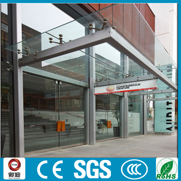 Ce Certificated Custom Stainless Steel Glass Door Canopy Buy Glass