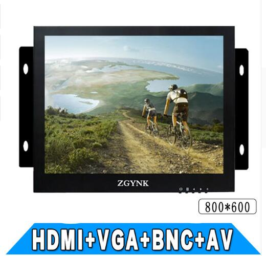12 inch Open Frame embedded monitoring metal shell Security LCD CCTV monitor
