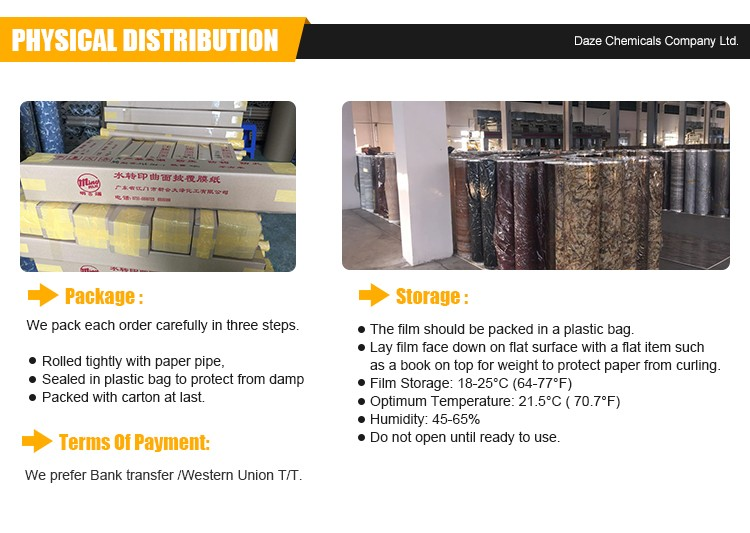Leading Fashion Hydrographic Water Transfer Printing Film Activator Special Design Pattern Width 0.5M