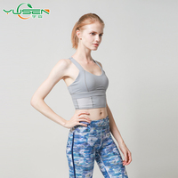 Summer Stretch Racerback Gym Fitness Workout young Ladies sexy Sports Bra