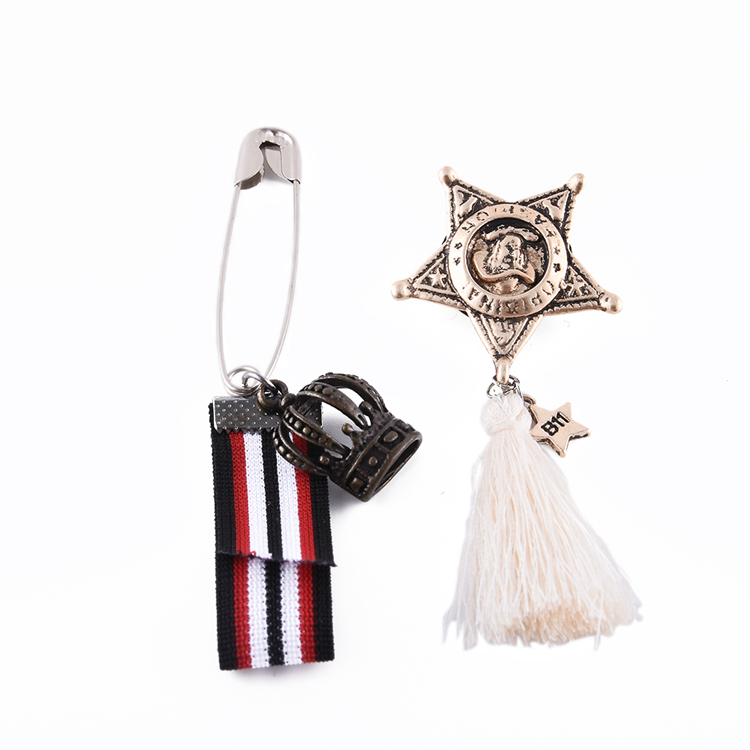 YongZe Tassel antique Create your own design mini tassel safety scarf factory pin brooch