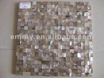 Naturale marrone piazza madreperla conchiglia mosaico a parete