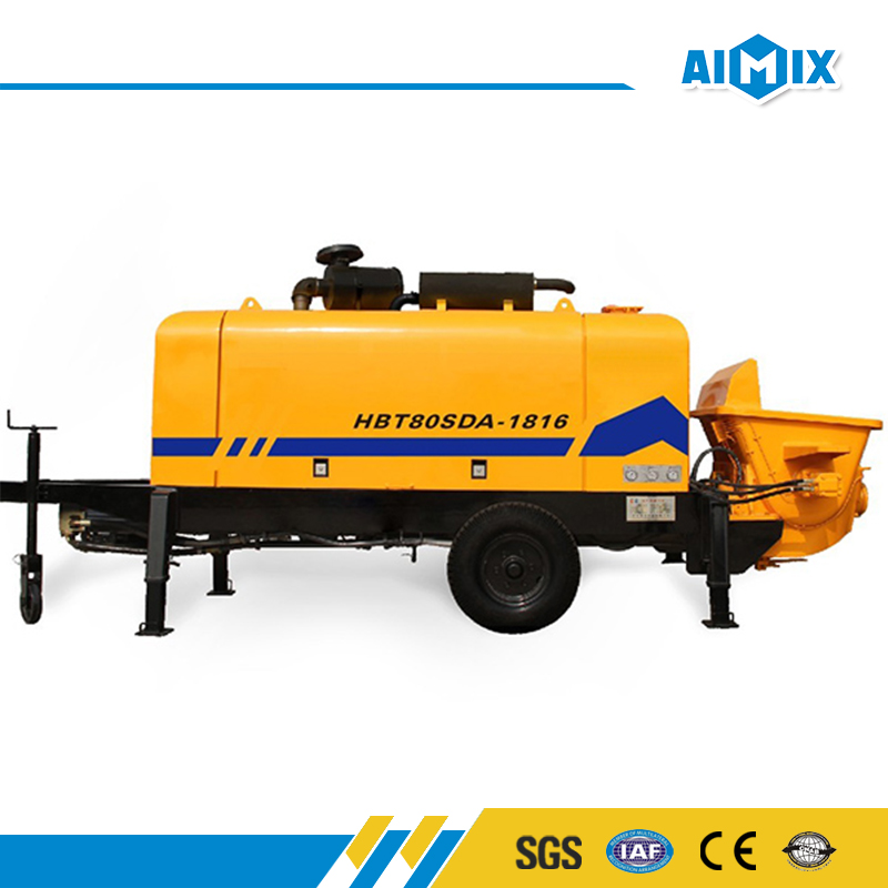 New type 60m3 diesel concrete pipe machine concrete pump asia