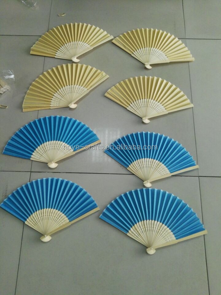 Colored Paper Hand Fan Asian Folding Silk Hand Fans